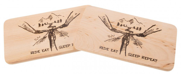 Schneidebrett Erle 22 x 12 cm - Ride Eat Sleep Repeat